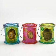 Lantaarns met A-Color Glass en decoupage