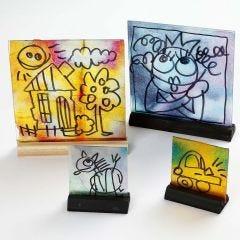 Glas afbeeldinggen met waterverf