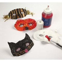 Plastic maskers met gipsgaas