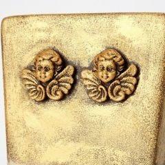 Bloempot met Inka Gold Metal Gloss Wax