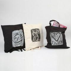 Textiel print op tas