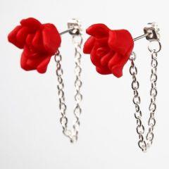 Oorbellen met rozen en jasseron