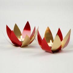 Waxinelichtjes van metallic folie karton