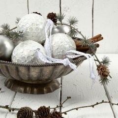 Kerstballen met mozaiek