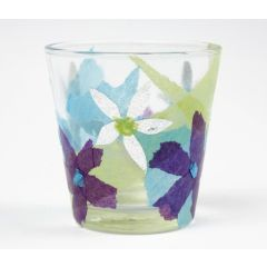 Tissue papier op glas
