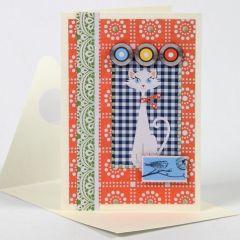 Een kaart met Vivi Gade Design Papier
