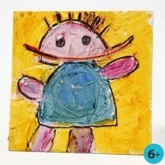 Afbeelding op canvas paneel met structuurpasta