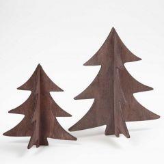 Een houten kerstboom