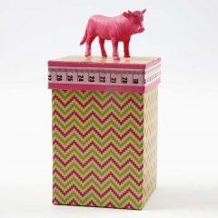 Design papieren doos met stier