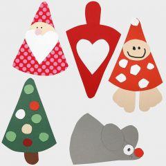 Kerstdecoraties – Figuren gemaakt van een sjabloon