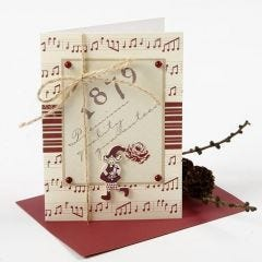 A Christmas Card with Vivi Gade Design Paper and Wooden Pixie