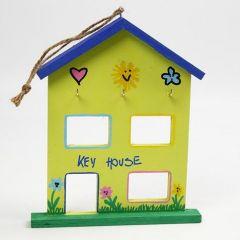 Een gedecoreerd huis voor huissleutels