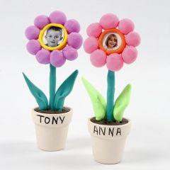 Foto's van kinderen op bloemen van Silk Clay