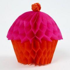 Een Cupcake gemaakt van Concertina Papier