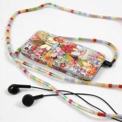 Mobiele telefoonhoes met stickers