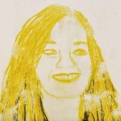 Portret gemaakt met Caran d´Ache Neocolor II