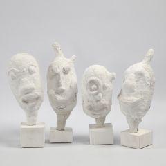 Sculptuur gemaakt van een ballon bekleed met gipsgaas