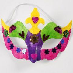 Een glossy masker met pailletten