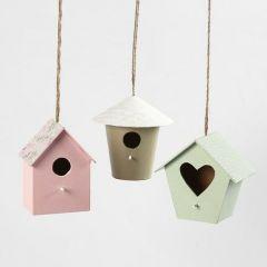 Decoratieve vogelhuisjes gedecoreerd met Design papier