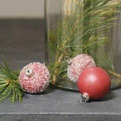 Terracotta ballen, geverfd en gedecoreerd met glitter