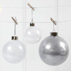 Glazen ballen met glitter