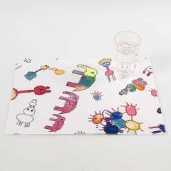 Een placemat van textiel