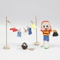 Waslijn met kleding van Silk Clay