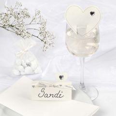 Romantische witte trouw decoraties
