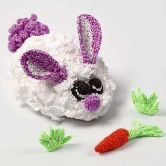 Een konijn van Foam Clay op een mechaniek