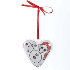 A two-piece transparent Plastic Heart hanging Decoration