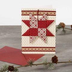 Kerstkaart met gevlochten ster