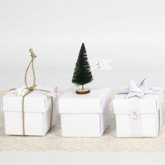 Vouwdoos decoreren in kerst stijl