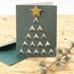 Een kerstkaart met grafisch kerstdesign