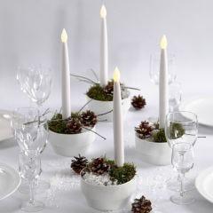 Kerstdecoraties met LED kaarsen