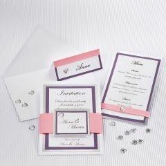Uitnodiging voor huwelijk met zilveren rand