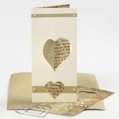 Uitnodiging voor een huwelijk met uitgestanst hart