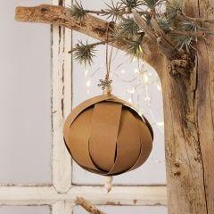 Kerstbal van Faux Leather vlechtstroken