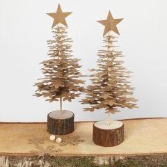 Kerstbomen van Faux Leather papier