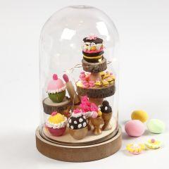 Stolp met miniatuur cupcakes