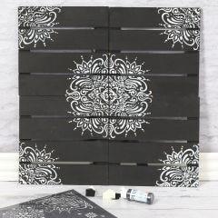 Wanddecoratie met etnisch patroon