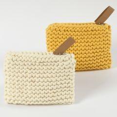 Portemonnee van textielgaren