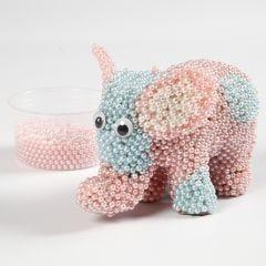 Papier-maché olifant met Pearl Clay