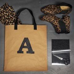 Strijkfolie op een Faux Leather tas