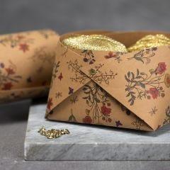 Schaal van Faux Leather papier met rivets