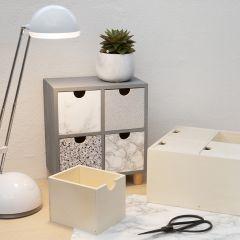 Ladenkast gedecoreerd met zelfklevende folie