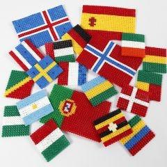 Vlaggen van Nabbi strijkkralen