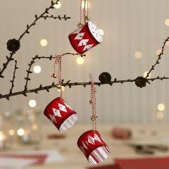 Kersttrommels van design papier voor in de kerstboom
