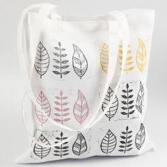 Textiel stempelen met zelfgemaakt stempel