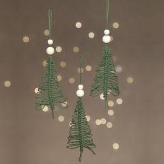 Hangende geknoopte kerstboom