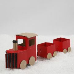 A Christmas train from milk/juice cartons and recycled cardboard